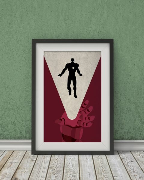 Marvel�s The Avengers � Iron Man Inspired Print � Wall Art, Fan Art, Minimalist