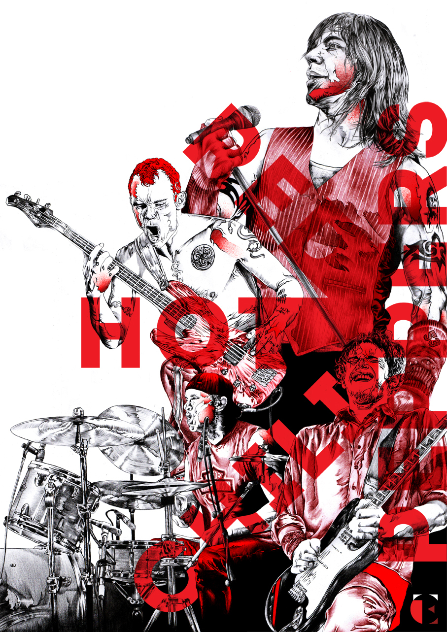 red hot chili peppers posterspy. Black Bedroom Furniture Sets. Home Design Ideas