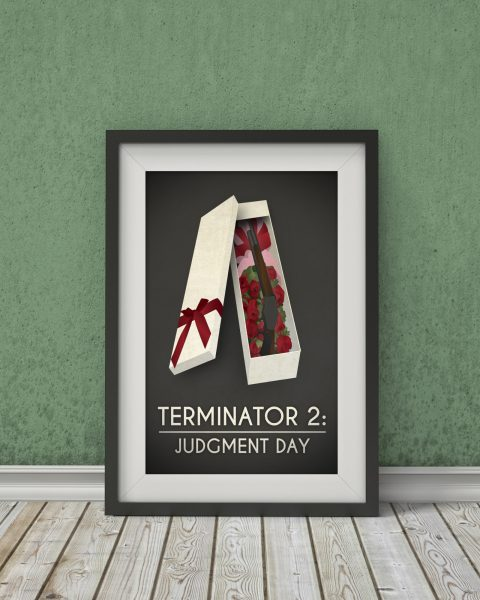 Terminator 2: Judgment Day-Inspired Movie Poster – Fan Art, Minimalist