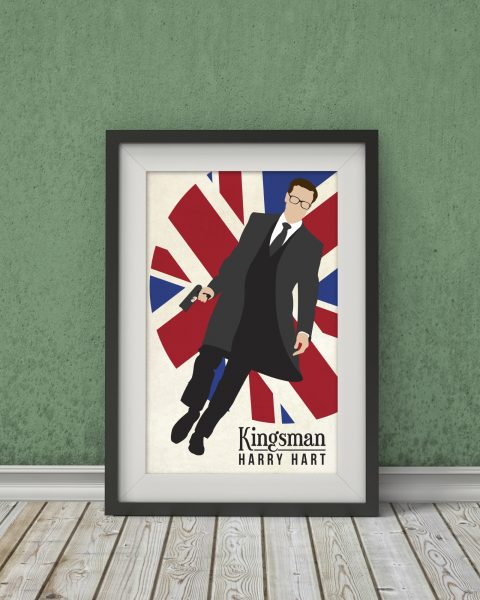 Kingsman-Inspired Movie Poster – Fan Art, Minimalist