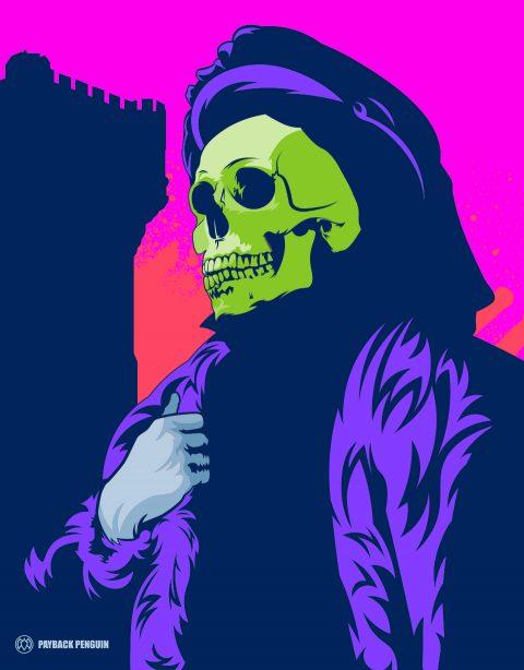Shakespearian Skeletor Poster