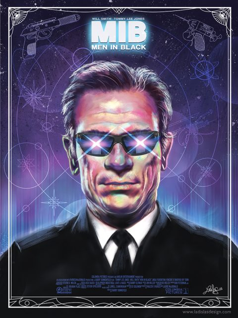 Men In Black Alternative poster – Tommy Lee Jones