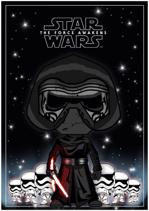 Star wars The Forc Awakens Cartoon Poster (CMYK)