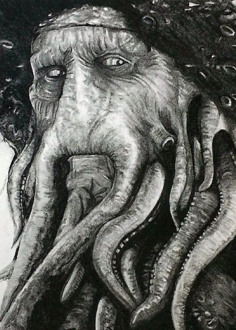 Davey Jones – Charcoal Illustration