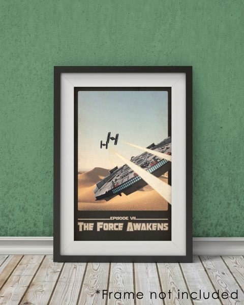 Star Wars The Force Awakens-Inspired Poster – Fan Art, Wall Art
