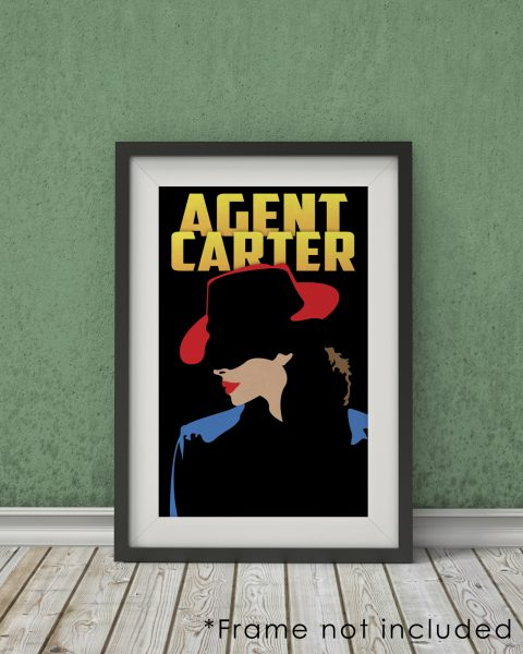 Marvel's Agent Carter-Inspired Poster – Minimalist, Fan Art