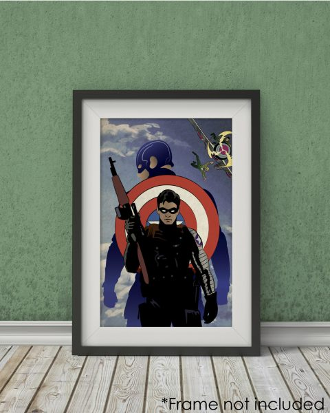 Captain America Winter Soldier-Inspired Poster – Minimalist, Fan Art