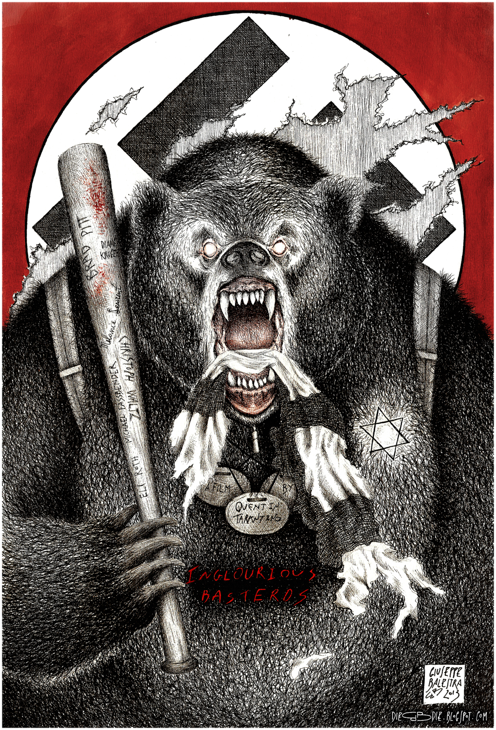 inglourious basterds the bear jew 2013 posterspy