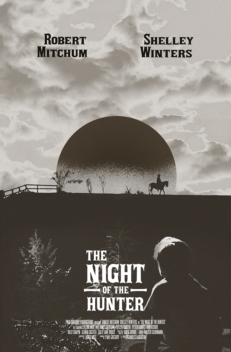 Resultado de imagem para night of the hunter poster