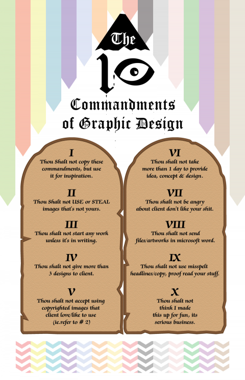 Ten Commandments of Graphic Design