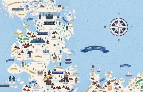 Westeros & Essos map