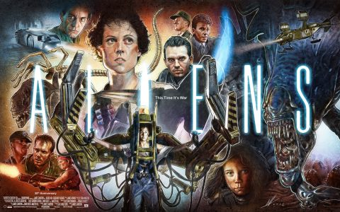 Aliens 30th Anniversary poster illustration