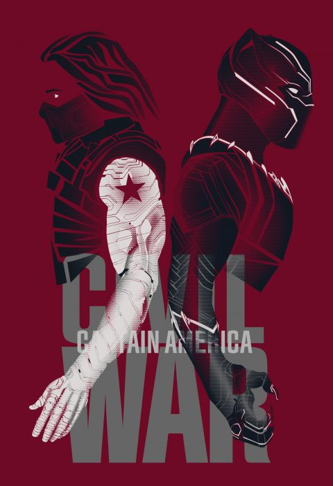 Captain America: CW (Bucky/T'challa) Halftone