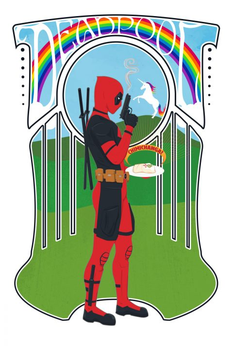 Deadpool Art Nouveau