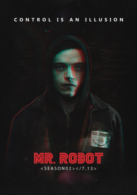 Mr. Robot – Control Is An Illusion (Alternative Poster)