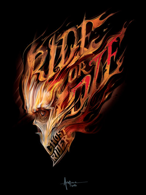 GHOST RIDER- RIDE or DIE- vector tribute