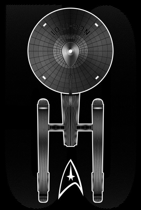 Star Trek 50- Black and White lines