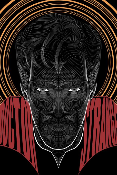 Doctor Strange- Vector Line Poster