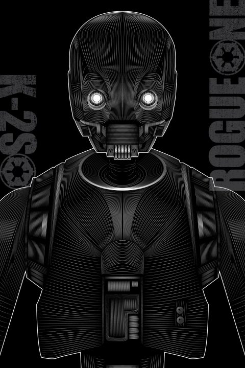 Rogue One (K-2SO) Vector Poster