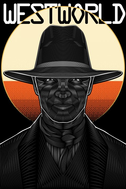 Westworld (The Man in Black)- Vector Poster Design