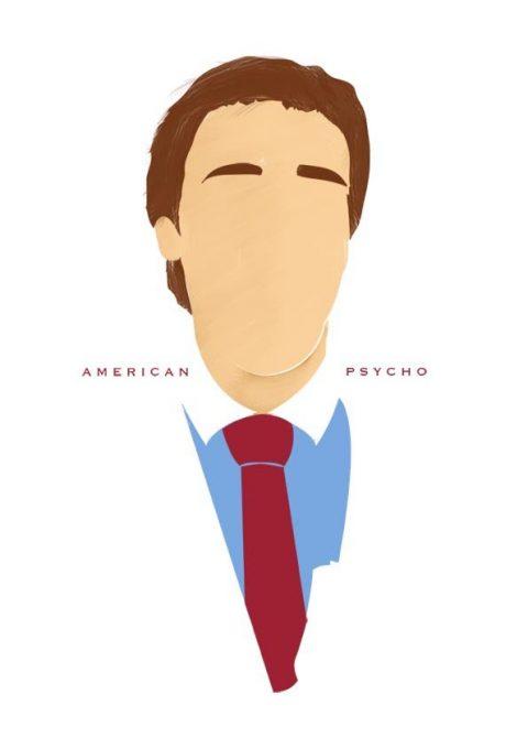 American Psycho Patrick Bateman Minimal Poster