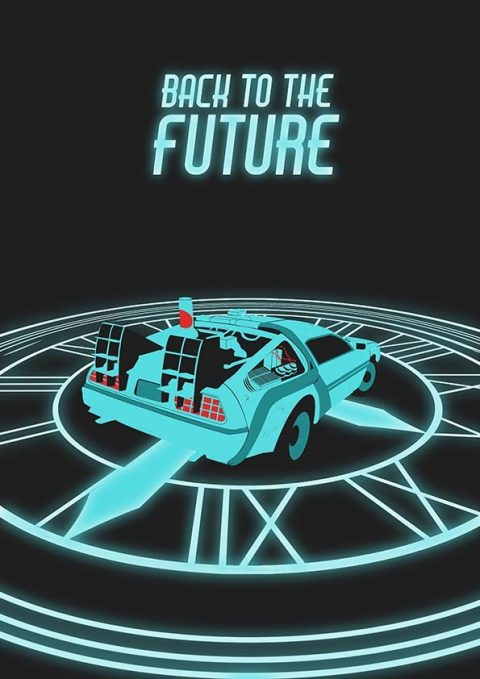 Back to the Future minimal poster