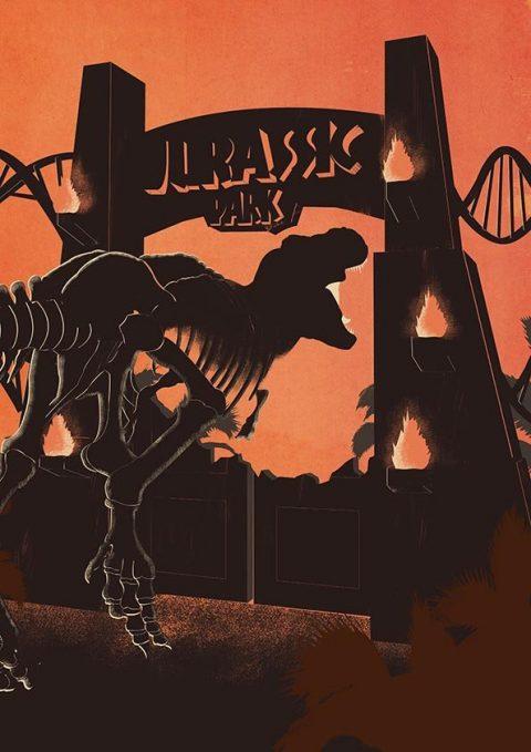 Jurassic Park Minimal poster