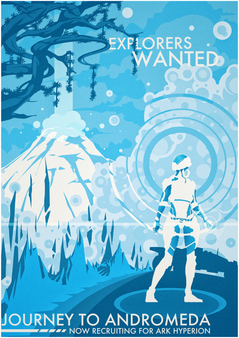 Explorers Wanted – A Mass Effect Andromeda Recruitment Poster