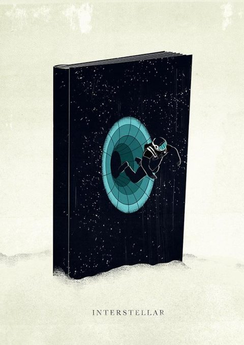 Interstellar minimal film poster