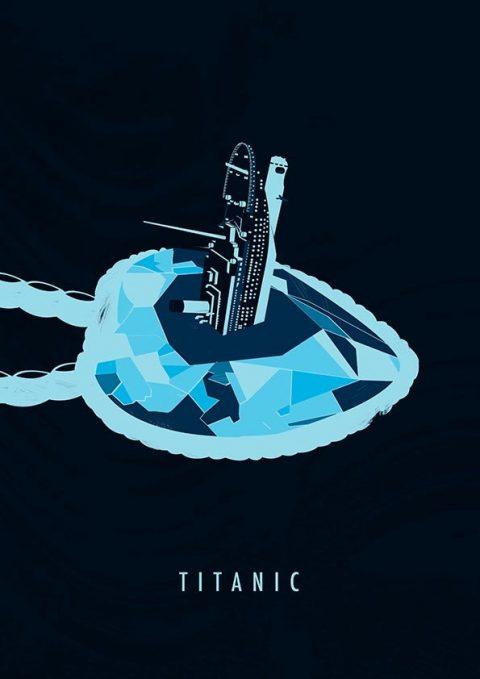 Titantic Minimal Poster