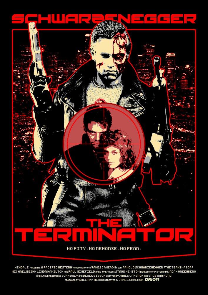 Terminator (1984) Alternative poster : Terminator