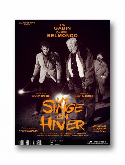 UN SINGE EN HIVER Jean Gabin et Jean-Paul Belmondo