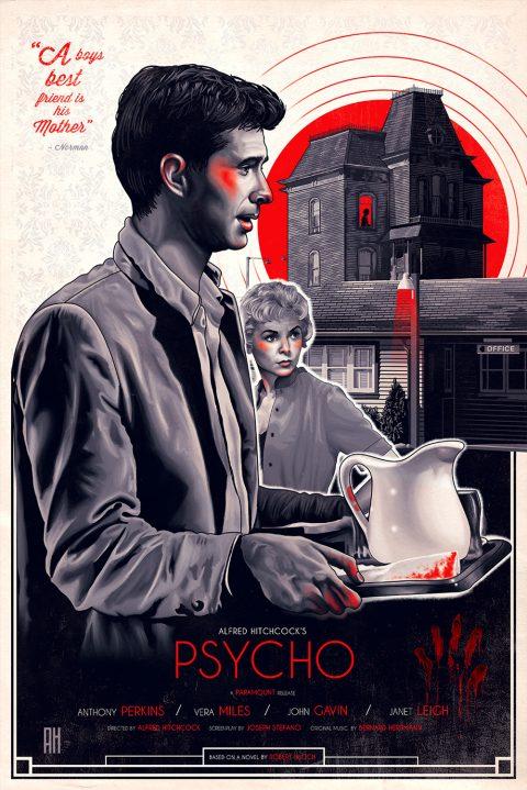 Psycho (Original Film Poster)