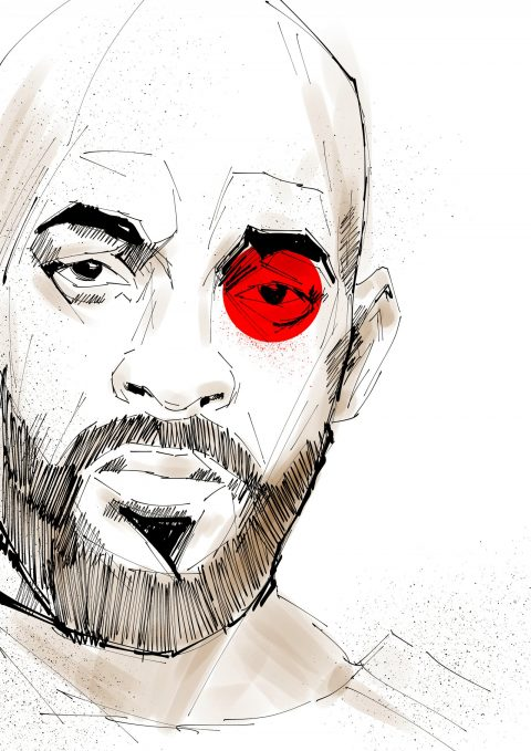 "WILL SMITH ""DEADSHOT"" Suicide Squad Illustration"