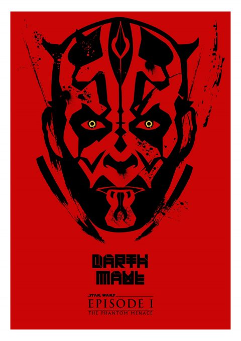 """DARTH MAUL"" A3 Print Design"