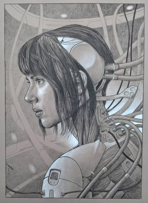 Ghost In The Shell – pencil drawing