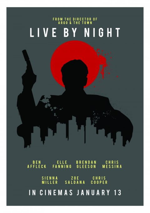 LIVE BY NIGHT POSTER DESIGN