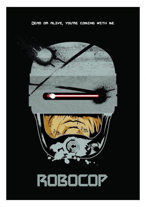 """""""ROBOCOP"""" A3 poster design"""
