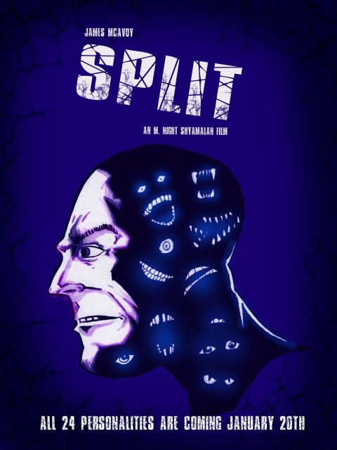 Split – movie poster: 12×16
