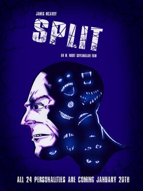 Split – movie poster: 12×16