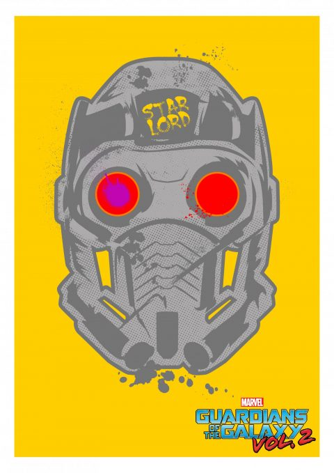 "STAR LORD ""Guardians Of The Galaxy vol.2"" A3 Print"