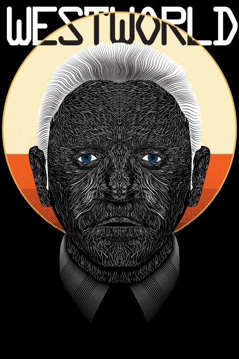 Westworld Dr. Ford- Vector Line Poster