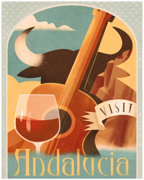 Andalucia Travel Poster