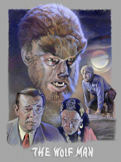 "Tribute Poster for ""THE WOLF MAN"" (1941)"