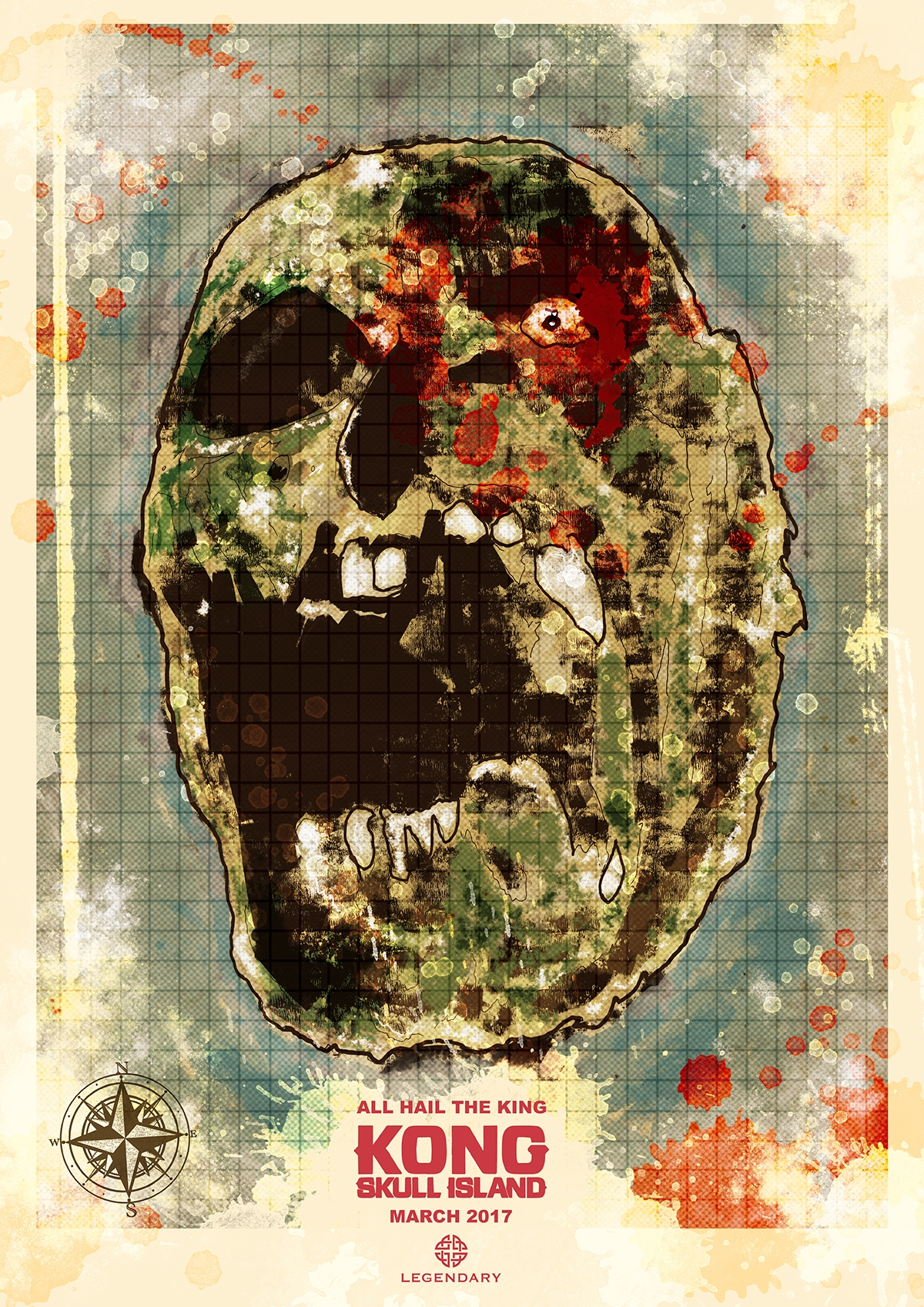 KONG SKULL ISLAND map poster design... - PosterSpy on national treasure map, the hunger games map, the lion king map, monsters university map, raiders of the lost ark map, robin hood map, headless horseman map, lone survivor map, the most dangerous game map, saving private ryan map, the ring map, a princess of mars map, jurassic park map,