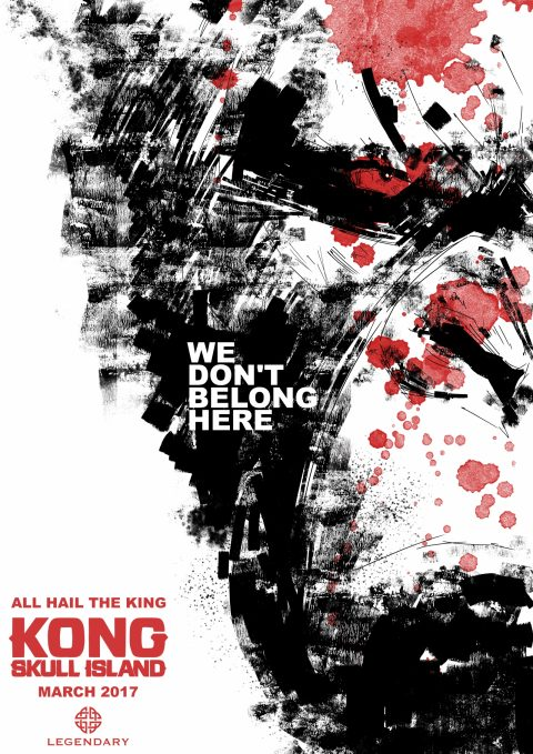KONG Illustration style poster design…