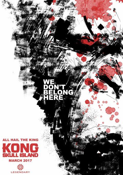 KONG Illustration style poster design…