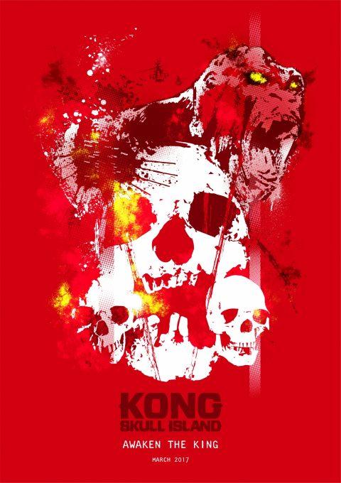 KONG SKULL ISLAND A3 Poster design 2
