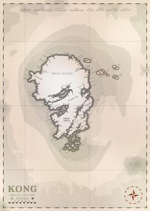 Skull Island: Traveler's map