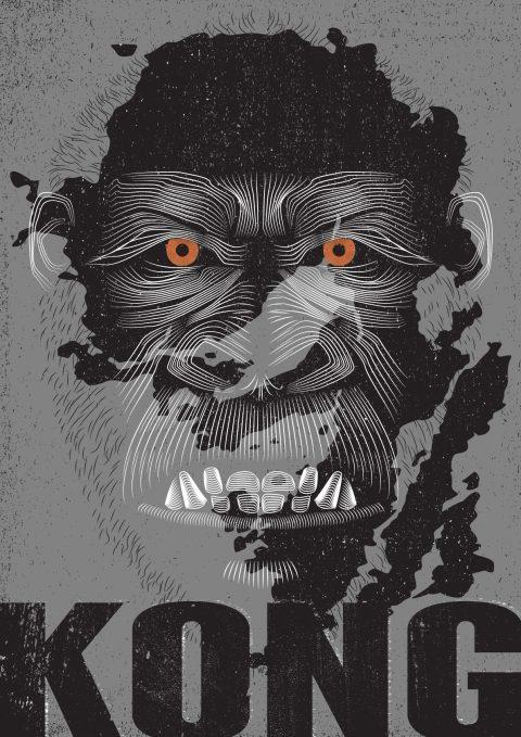 Kong Skull Island (Vector Lines)